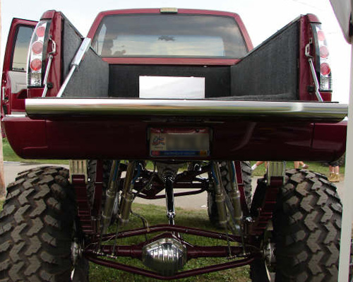 Droptail on Monster show truck